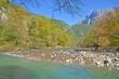 Obrazy na płótnie, fototapety, zdjęcia, fotoobrazy drukowane : Voidomatis river in Ioannina Greece  - autumn background