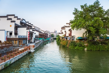nanjing scenery of the qinhuai river