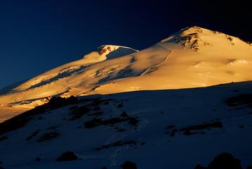 Mount Elbrus in sunrise