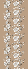 Seamless decorative border with stylized roses