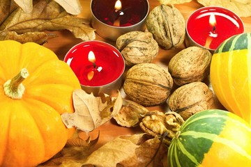 Autumn vegetable background