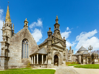 The parish of Guimiliau, Brittany, France.