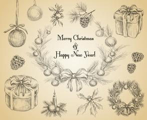 Christmas decoration sketch