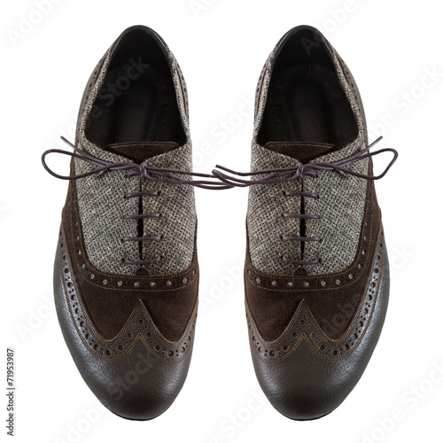 canvas print picture Male tango shoes