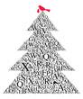 canvas print picture - Weihnachtsbaum Typografie