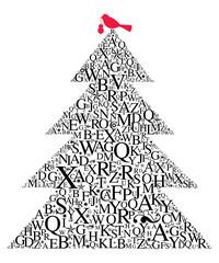 Weihnachtsbaum Typografie