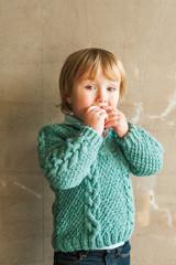 Portrait of a cute toddler boy