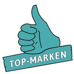 tus68 ThumbUpSign tus-v11 Daumen hoch - Top-Marken türkis g2168
