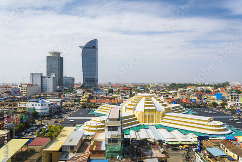 Foto op Canvas Overige central phnom penh in cambodia