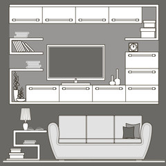 living room furniture icons