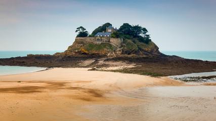European Beach Landscape with Castle