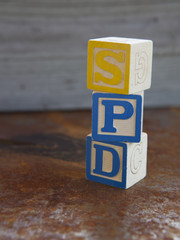 Sensory Processing Disorder (SPD) alphabet blocks