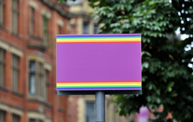 Manchester's gay village - sign