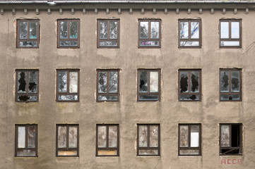 Fassade eines verlassenen Gebäudes