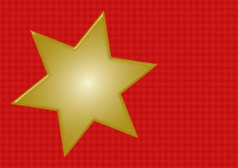 Goldener Stern auf rotem Rautenmuster