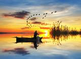 pescando en el lago de los sueños