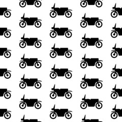 Motorcycle symbol seamless pattern