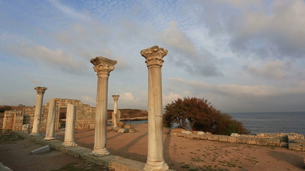 Ruins of the ancient Greek city of Chersonese, Crimea