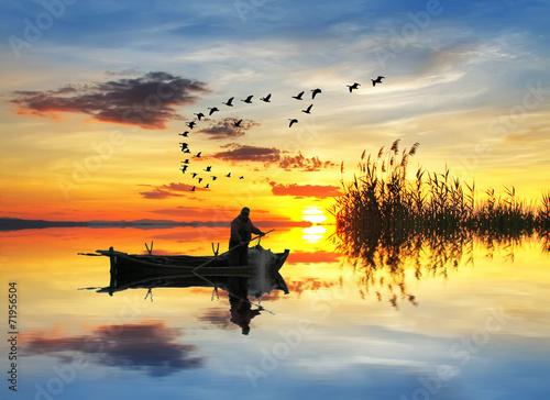 pescando en el lago de los sueños - 71956504