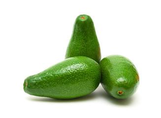 avocado isolated on white background close up