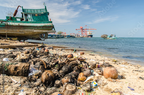 canvas print picture Werft in Sihanoukville