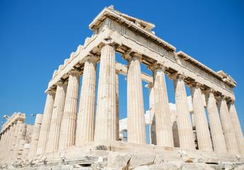 Famous Parthenon temple in the Acropolis, Athens, Greece.