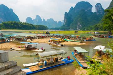 Boote am Li-Jiang