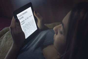 Reading an ebook in bed