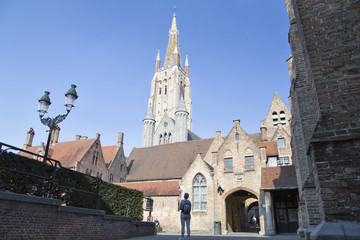 Bruges, Belgium. Church of Our Lady
