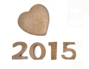 2015 avec un cœur