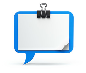 Clipboard - speech bubble