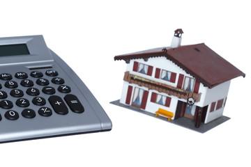 Rechner und Immobilie
