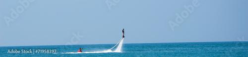 Spoed canvasdoek 2cm dik Water Motorsp. Flyboard