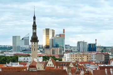 Tallinn City summer view