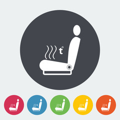 Icon heated seat.