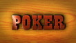 Poker Wood Text on Table