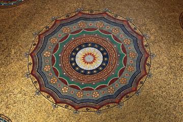 Arabic pattern on ceiling