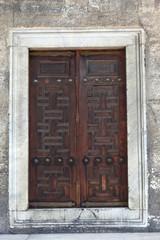 Old wooden arabic door