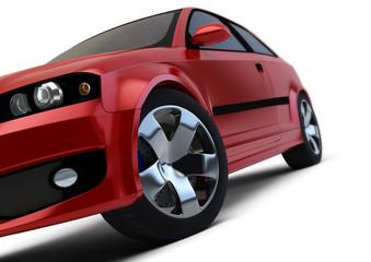 Red car render