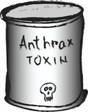 doodle can of anthrax toxin poster