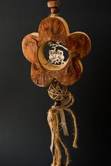 owl's couple wood christmas Decoration