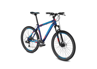 mountain blue red bike