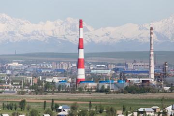 pipe plant in Shymkent. Kazakhstan