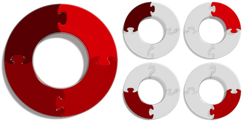 Circle Puzzle 04 - Red