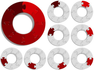 Circle Puzzle 08 - Red