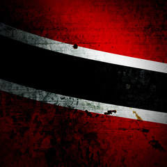 Aged textured Trinidad and Tobago national flag
