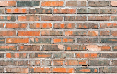 Seamless background texture of old red brick wall