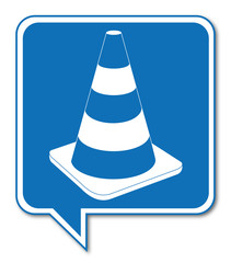 Logo cône de chantier.