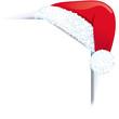 Papier Ecke mit Weihnachtsmütze