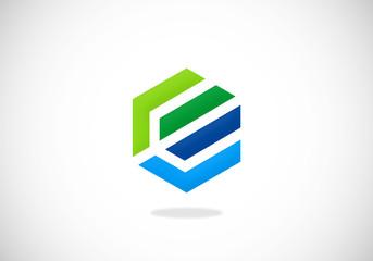 polygon shape construction vector logo
